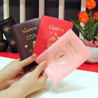 Travel Utility Simple Passport ID Card Cover Holder Case Protector Skin PVC 14ja