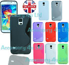 S LINE SOFT GEL WAVE CASE COVER FOR SAMSUNG GALAXY S5 MINI SM-G800+Free Screen