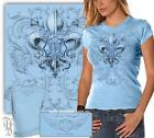 Erazor Bits THD403 FIREFIGHTER FIRE ANGEL POWDER BLUE T-Shirt