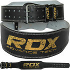 "Auth RDX Weight Lifting 4"" Leather Belt Back Support Strap Gym Power Training AU"