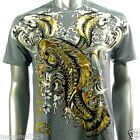 Artful Couture T-Shirt Tattoo Rock AG33 Sz M L XL XXL Koi Fish Biker Japanese
