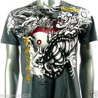 Artful Couture T-Shirt M L XL XXL Dragon Tiger Fight Japanese Tattoo Biker AG12