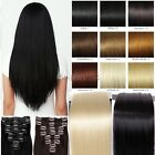 145g Real Thick Lady Full Head 8 Wefte Clip In Hair Extensions Fall Remy Style A