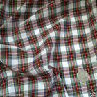 White Red & Green Tartan Christmas Fabric 100 % cotton  per 1/2 mtr or per FQ