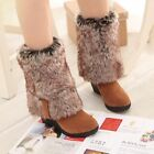 Women's Winter Warm Fur Lining Platform Wedge Heels Knee High Heels Boots Shoes
