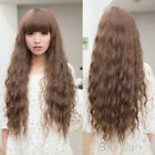 NEW VOGUE WOMENS LADY LONG CURLY WAVY HAIR FULL WIGS COSPLAY PARTY BROWN BD9K