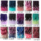 15 Colors Rainbow Colors Girls Lovely Long Wavy Synthetic Clip In On Attractive