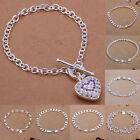 NEW Gift Classic Jewelry Wholesale Womens MENS Top Silver Bracelet Bangle