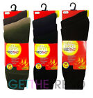Mens 3 Pack Thermal Socks Men's Winter Black Brown Green Grey Thick Warm Socks