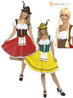 Ladies Oktoberfest Fancy Dress German Bavarian Octoberfest Beer Costume + Wig