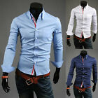 TOP SALE  Formal/Casual Shirts SLIM FIT Men Button Down Shirts Tops Tee Solid