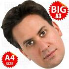 ED MILIBAND BIG Face Mask A3 & A4 - LABOUR PARTY GENERAL ELECTION PRIME MINISTER
