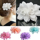 20Pcs Fashion Hair Flower Clip Bridal Girl Women For Wedding Prom Party Photo