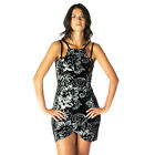 AJ41 Ladies Floral Sequin Velvet Womens Strappy Sleeveless Bodycon Midi Dress