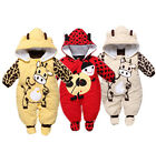 New Baby Xmas Coat Winter Cow Thick Cotton Padded Clothes Leotard Playsuits