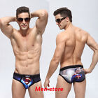 Men Soft Super Man Ice Silk Boxer Shorts Trunks Boxers Brief Bottoms Underwear