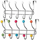 Over Door 10 Hook Clothes Coat Towel Bathroom Chrome Hanger Rack Storage Holder