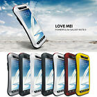 LOVE MEI Aluminum Metal Shock/Water Proof Case For Samsung Galaxy Note 2 N7100