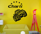 Monster Truck &  FREE Personalised / Customise Name  Kids Removable wall sticker