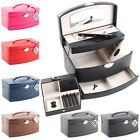 Davidts Lisseet Graine Faux Leather Large Auto Tray Jewellery Box with Traveller
