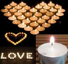 2 /10 Pcs Tealights Tea Lights Wedding Party Decor Unscented White Candles Hot