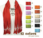 Jewelry scarf 12 colors fashion heart pendant scarf charm free shipping, NL-1790