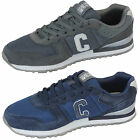 Mens Trainers Crosshatch New Sneakers Lace Up Suede Mesh Running Quilted Shoes
