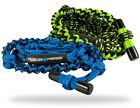 Liquid Force DELUXE Wakesurf Rope, 24', Green or Blue, with T bar. 55177