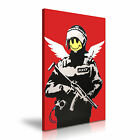 Banksy Flying Copper 2003 Graffiti Canvas Framed Printed Wall Art ~ More Size