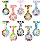 Fashion Style Nurse Silicone Stainless Round Dial Quartz Fob Quartz Pocket Watch