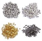 Wholesale Lots 500/1000pcs Silver/Gold/Black/Bronze Tube Crimp End Beads 1.5/2mm