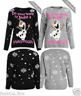 MENS WOMENS LADIES DO YOU WANT BUILD A SNOWMAN  KNITTED CHRISTMAS JUMPERS