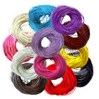 3M/10M Real Leather Necklace Charms Rope String Cord Round 2mm For Jewelry DIY