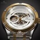 KS Navigator Automatic Mechanical Skeleton Men's Stainless Steel Wrist Watch