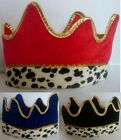 Childrens Crown Ermine Trim Crown Kings 3 Wise Men Christmas Fancy Dress