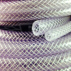 "4.0mm (5/32"") CLEAR PVC BRAIDED HOSE,FOOD GRADE OIL WATER GASES, REINFORCED TUBE"
