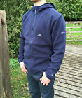 Mens Trespass XL Leadville Microfleece Navy Blue Zip Hooded Fleece Jacket Sale