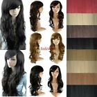 100% Real Thick New Fashion Long Full Wigs Cosplay Party Wig Straight Wavy lts