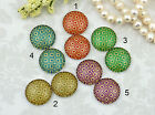 12mm 16mm 20mm Handmade glass Photo cabochon Vintage Style Square pattern 12G130
