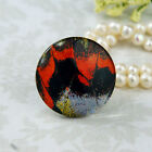25mm 30mm Butterfly Wing Nouveau cab Handmade glass Photo cabochon 30B002