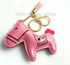 Colorful Horse Synthetic leath Leather Keyring Key Ring Chain Bag Charm 11x 9cm