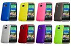 RUBBER TPU GEL CASE COVER FOR THE NEW HTC ONE M8 2014 WITH SCREEN PROTECTOR