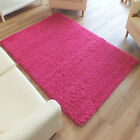 Trendy Modern Shaggy Jazz Rug Pink 3 Sizes Small to Large Cheap