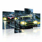 TRANSPORT Vehicle Car 2 Canvas 4A-RH Framed Printed Wall Art ~ 4 Panels