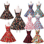 PINUP VINTAGE ROCKABILLY 1960s Cherry PROM Cocktail Party Evening SUMMER DRESS `