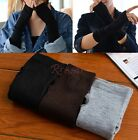 Women&Man Warm Knitted Fingerless Winter Gloves Unisex Soft Warm Long Mitten