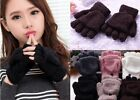Lady Women's Fashion Winter Fall Cute Hand Wrist Warmer Winter Fingerless Gloves