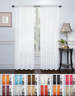 2 Pack: Elegant Sheer Voile Curtain Panels  - Assorted Colors