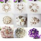 White Pearls Crystals Accessaries for Wedding Bridal Bouquet / Brooch Decor /DIY