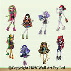 8 Pcs Monster High Removable Wall Stickers Nursery Decor Girls Art Decal Mural